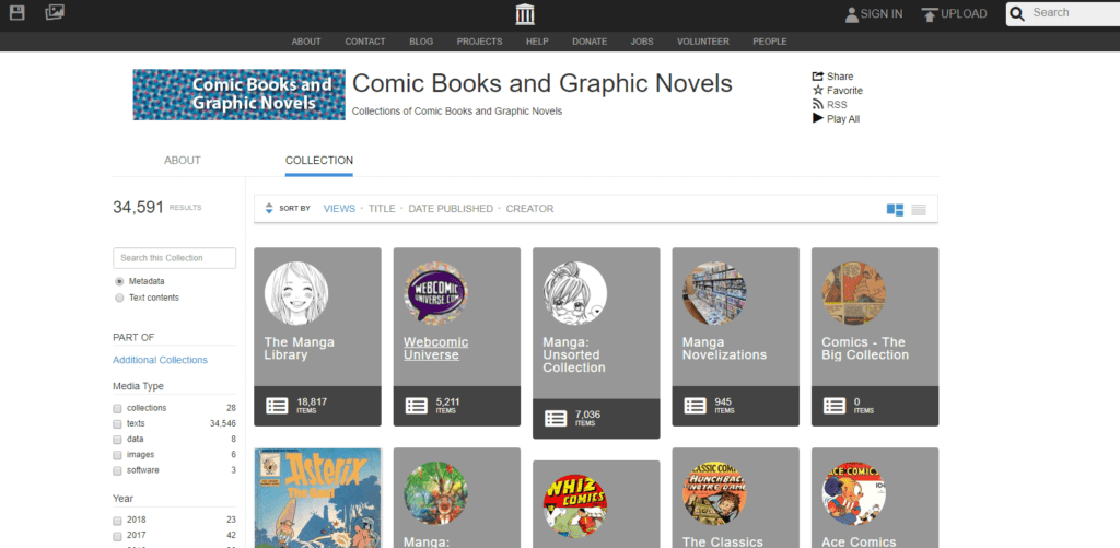 Comic Books and Graphic Novels - Internet Archive
