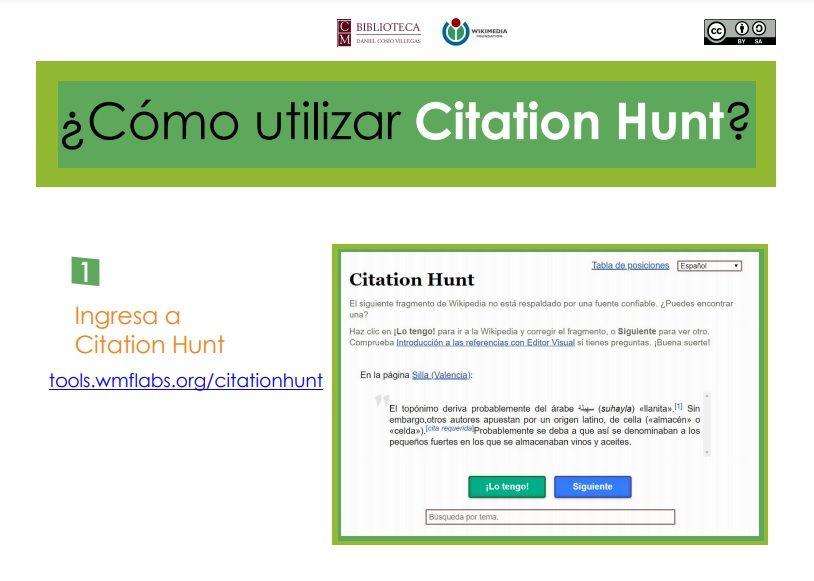 Cómo utilizar Citation Hunt