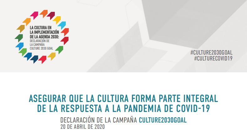 CultureGoal2030 Cultura necesaria en el mundo