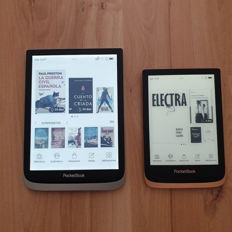 Diferencia tamaños PocketBook