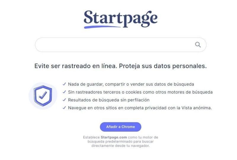 El buscador Startpage no registra ni comparte información personal