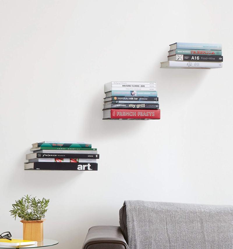 Estanterías de libros flotantes