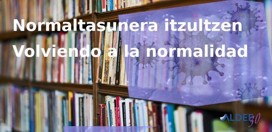 Etapas reapertura de bibliotecas ALDEE