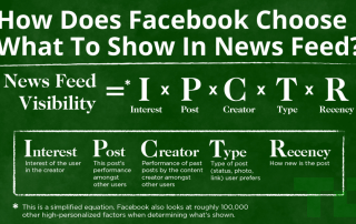 How does Facebook choose what to show in news feed?