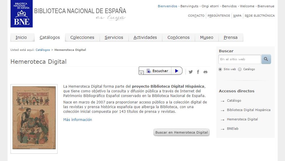 Hemeroteca Digital de la Biblioteca Nacional de España