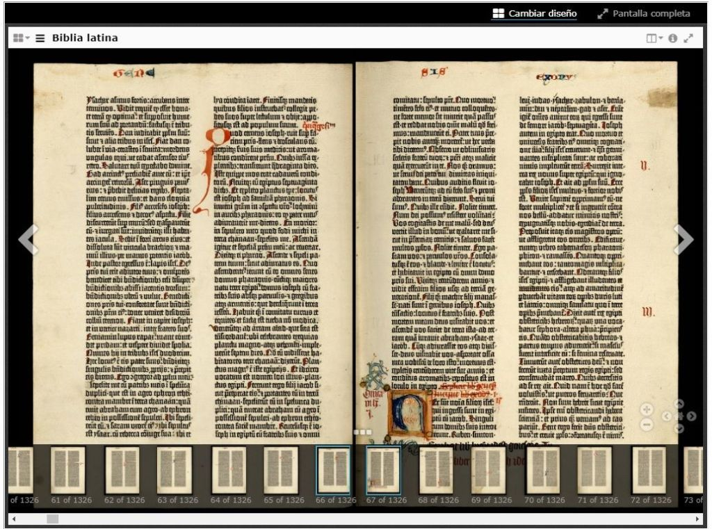 Incunable Biblia de Gutenberg