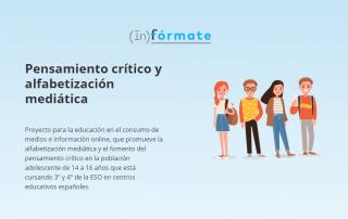 (In)fórmate alfabetización mediática pensamiento crítico