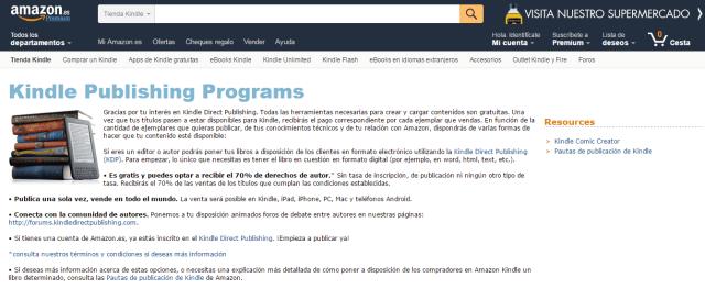 Kindle Publishing Programs