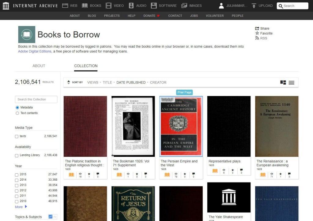La colección de libros modernos de Internet Archive supera ya los 2 millones de volúmenes