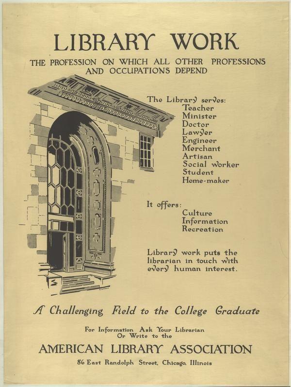 Library Work Anuncio publicidad personal bibliotecario