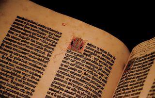 Libro incunable Biblia de Gutenberg