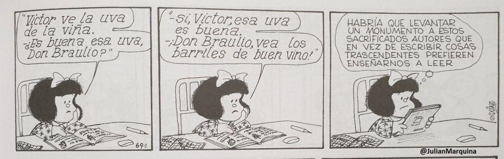 Mafalda - Un monumento a estos sacrificados autores que nos enseñan a leer