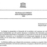 Manifiesto UNESCO biblioteca pública