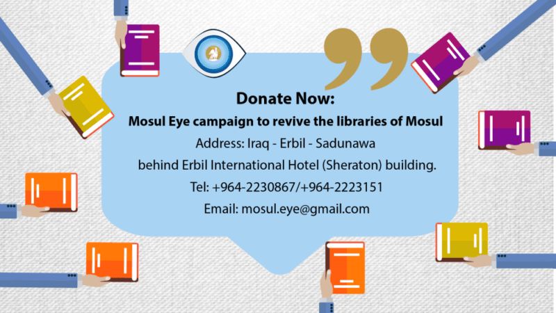 Mosul Eye campaign to revive the libraries of Mosul