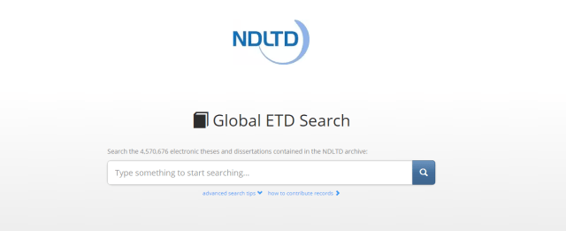 NDLTD - The Networked Digital Library of Theses and Dissertations