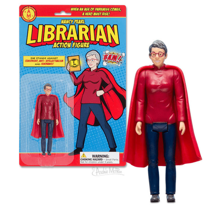 Nancy Pearl. The librarian action figure