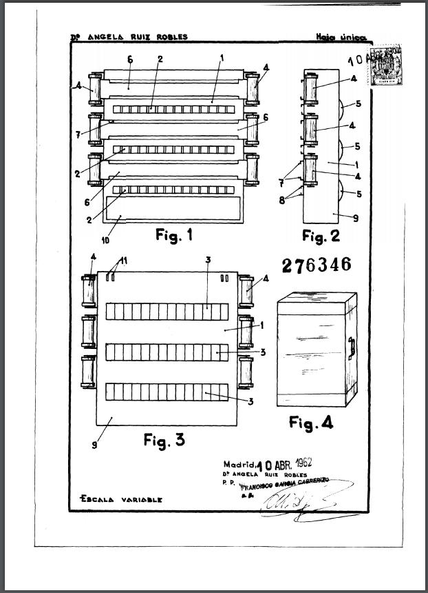 Patente de invención 276.346: «Un aparato para lecturas y ejercicios diversos»