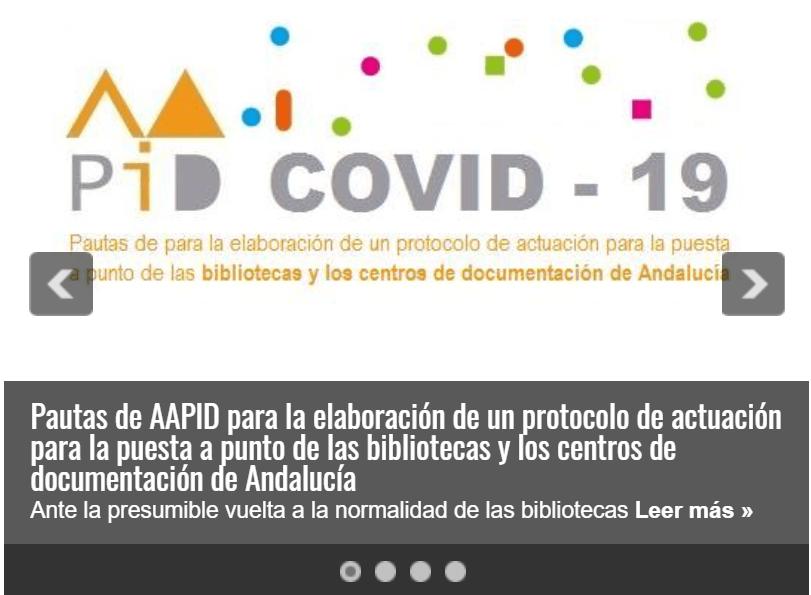 Pautas AAPID protocolo de actuación para la puesta a punto de las bibliotecas y los centros de documentación