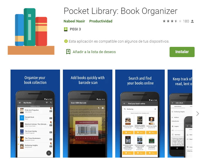Pocket Library Book Organizer