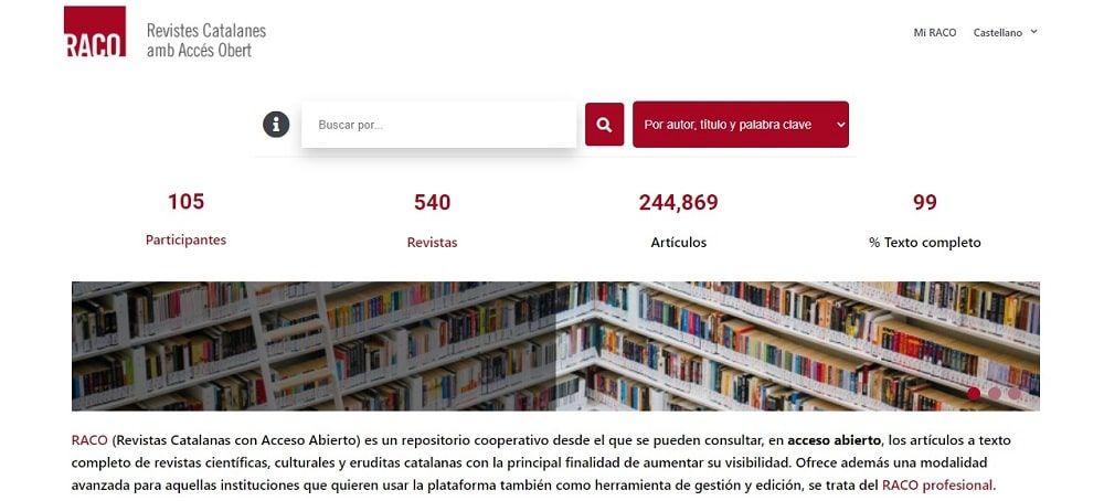 RACO (Revistas Catalanas con Acceso Abierto)