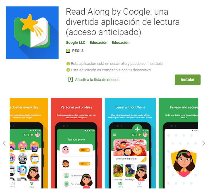 Read Along by Google Una divertida aplicación de lectura