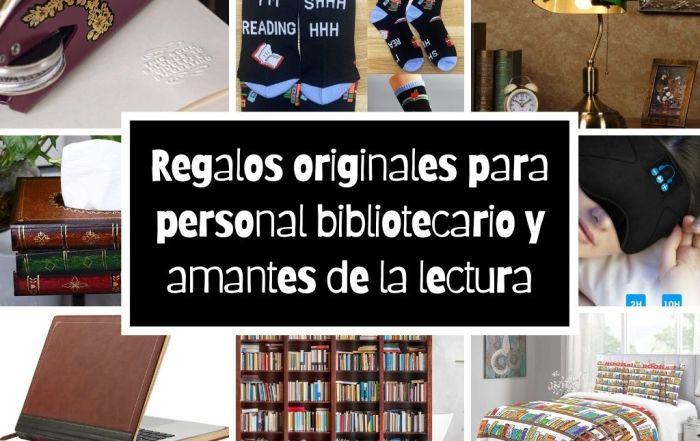 Regalos originales para personal bibliotecario y amantes de la lectura