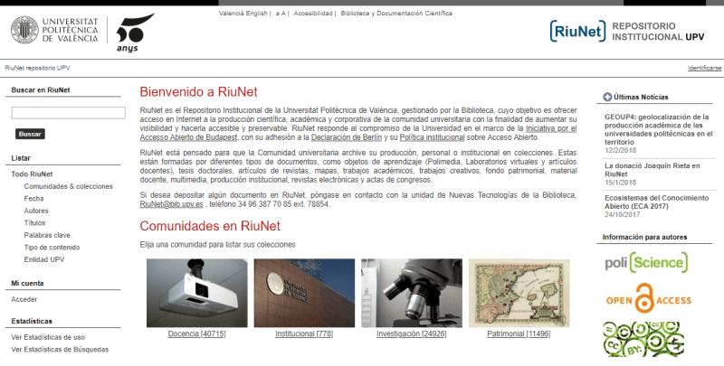 Repositorio Institucional Universidad Politècnica de València - RiuNet