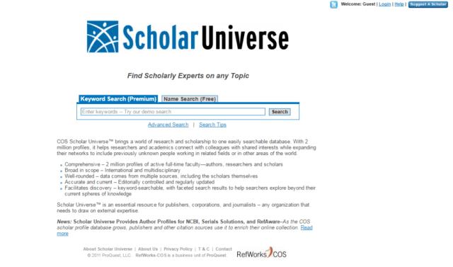 ScholarUniverse