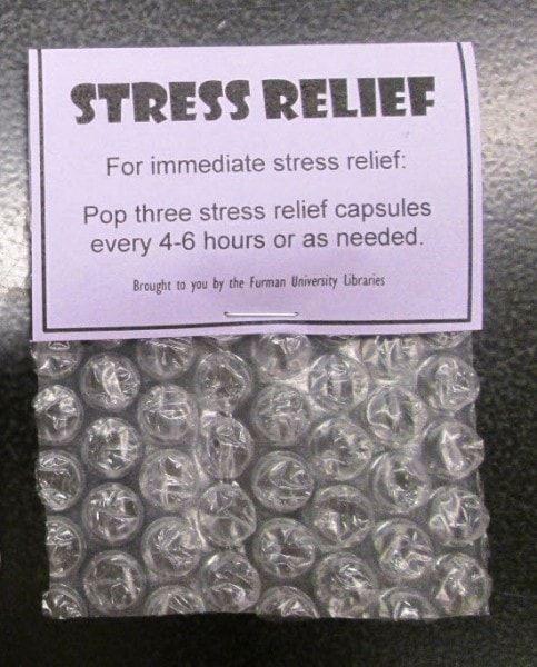 Stress Relief Capsules - Biblioteca de la Universidad de Furman