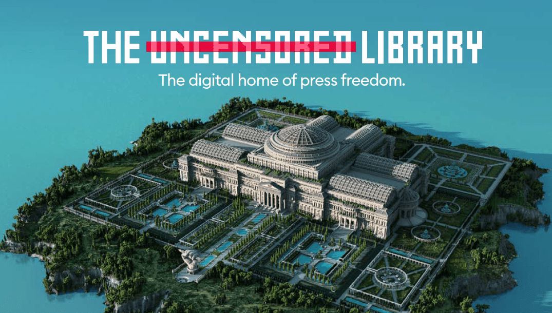 The Uncensored Library Minecraft biblioteca