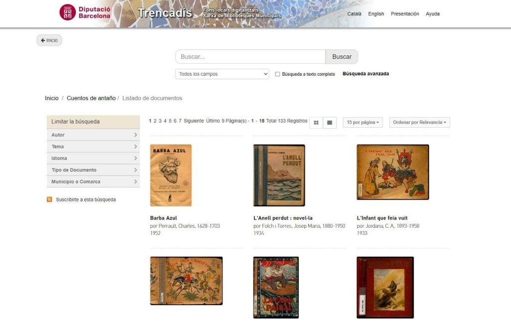Trencadis cuentos clásicos digitalizados