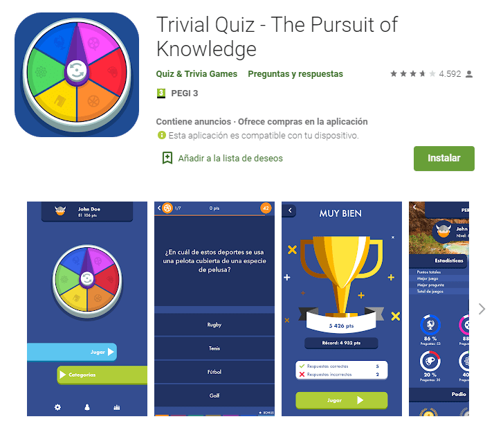 Trivial Quiz - The Pursuit of Knowledge