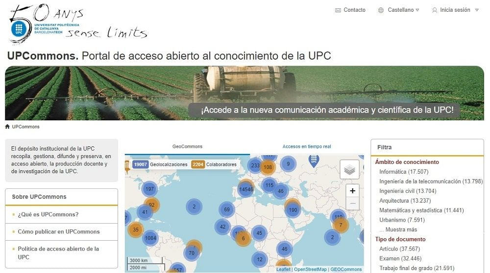 UPCommons. Portal de acceso abierto al conocimiento de la UPC