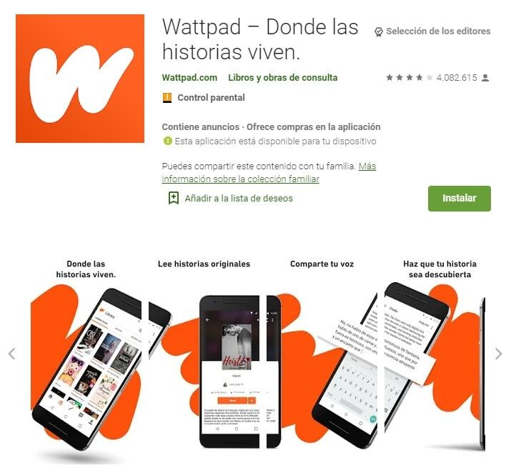 Wattpad aplicaciones lectura