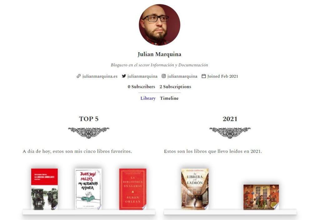 Zeneca cabecera perfil red social libros lectura