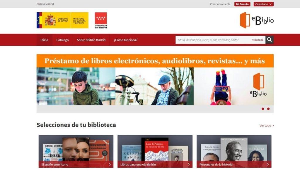 eBiblio Comunidad de Madrid