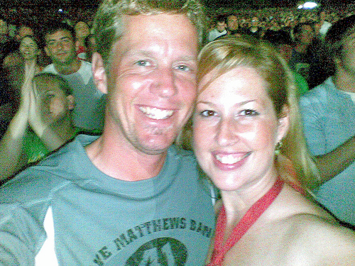 Julian and Shannon Seery Gude at the July 12, 2008 Dave Matthews Band concert at Cruzan Amphitheater in West Palm Beach, Florida