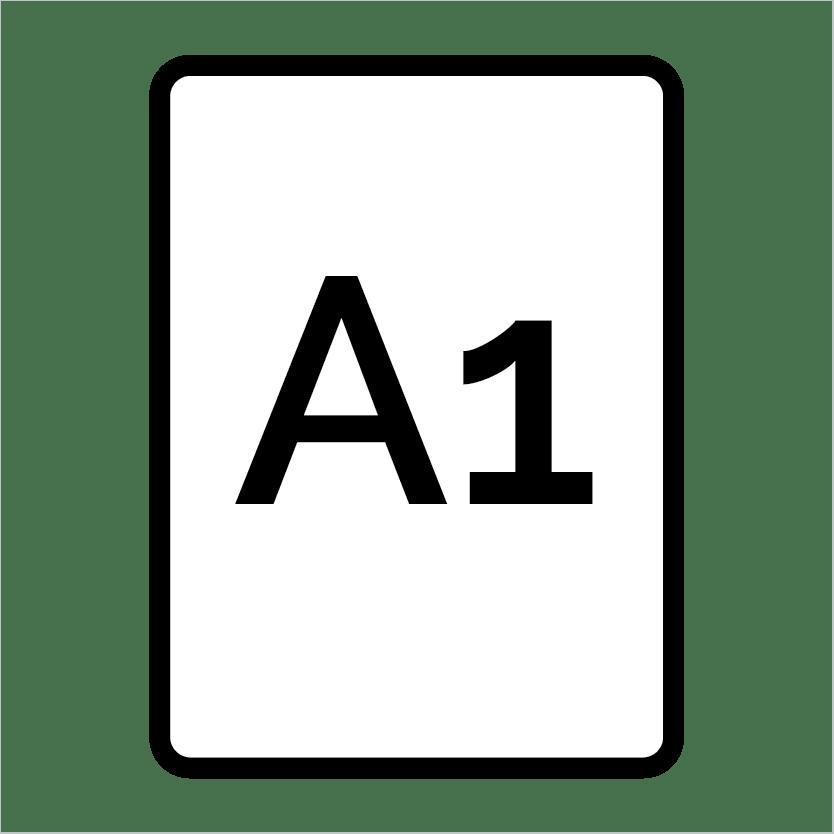 A1 – 59.4cm x 84.1cm