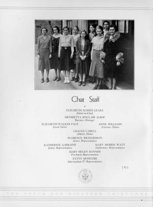 Collegiate Chat Staff, 1931 Torch