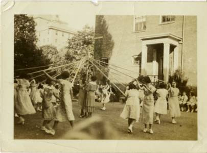Maypole, May Day, 1935