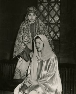 Scottie Wall as Joseph and Connie Kennon as Madonna, Pageant, December 1958