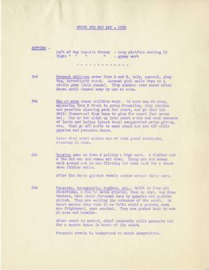 May Day Story Outline, 1959, p. 1