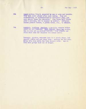 May Day Story Outline, 1959, p. 2