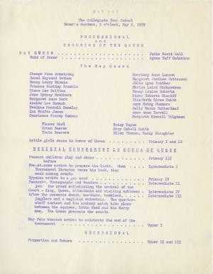 May Day Program, 1959
