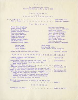 May Day Program, 1959