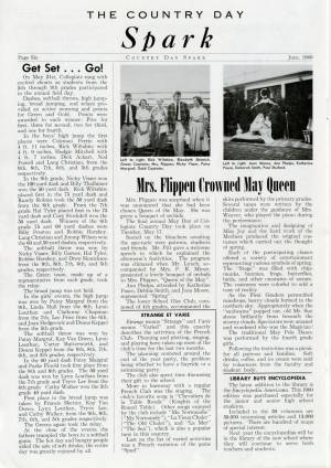 """Mrs. Flippen Crowned May Queen"", June 1960"