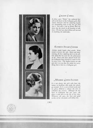 Senior Portraits, 1932 Torch