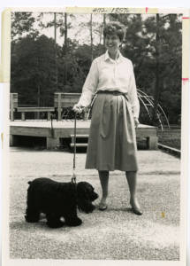 Julia Williams and Her Beloved Dog