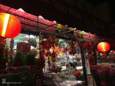 Chinatown at Night in Los Angeles, California
