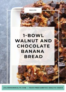 walnut chocolate banana bread reverse prediabetes